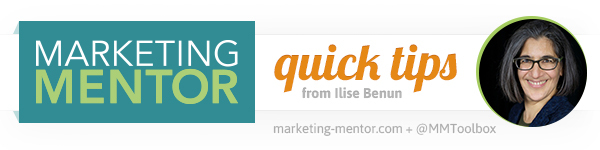 Quick Tips from Marketing Mentor