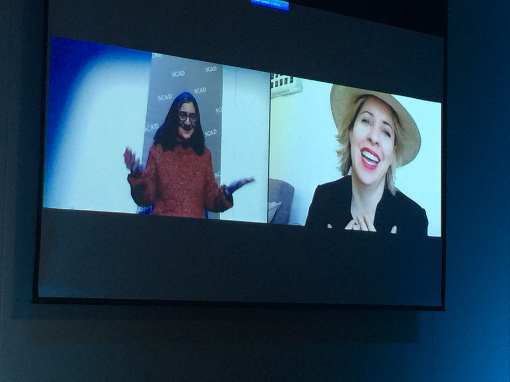 Ilise Benun interviewing Tiffany Shlain for HOWDesignLive@SCAD Lecture Series
