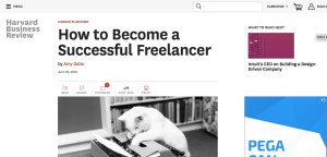 How to Become a Successful Freelancer on Harvard Business Review